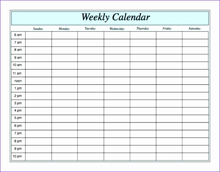 Excel Weekly Work Schedule Template Hgafc Awesome Weekly Calendar - weekly schedule printable with times