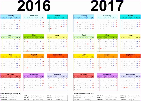 Excel Year Planner Template Ckxhx Fresh Two Year Printable Calendars