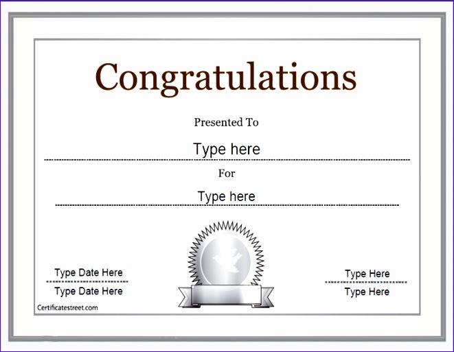 Congratulations Certificate Template kicksneakers
