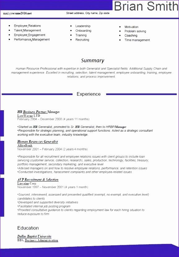 10 Excellent Resume Templates - ExcelTemplates - ExcelTemplates