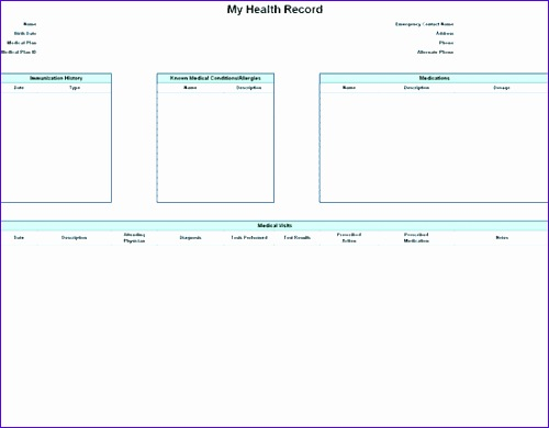 Personal Health Journal Template | cvfree.pro