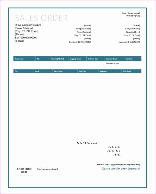 sales order form template excel - Carnavaljmsmusic