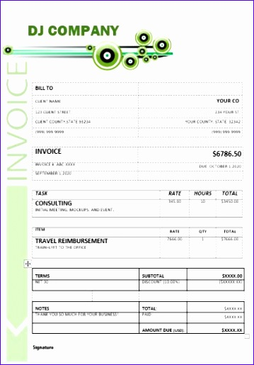 6 Free Tax Invoice Template Excel - ExcelTemplates - ExcelTemplates - free tax invoice