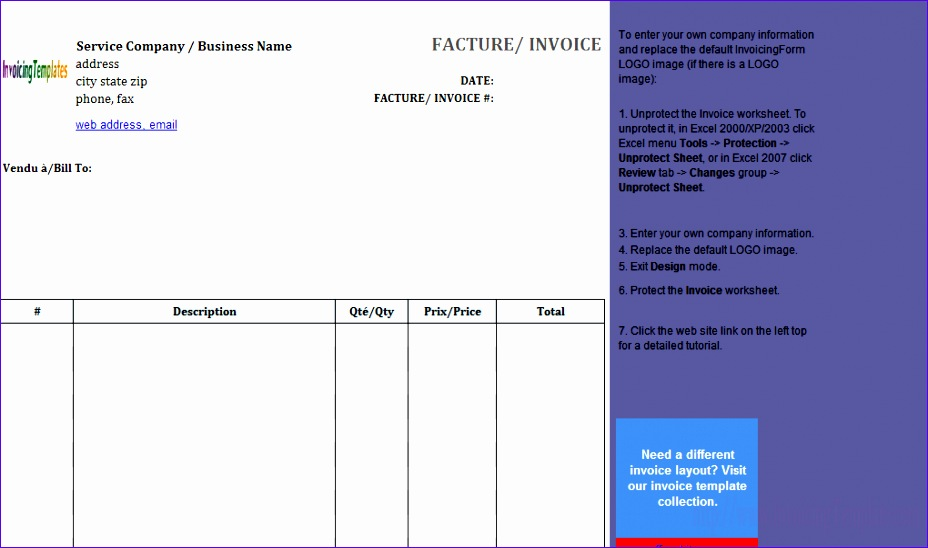 8 Invoice Template Excel Free - ExcelTemplates - ExcelTemplates