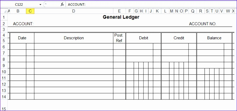 Ledger Excel Template Iduev Lovely top 5 Free General Ledger