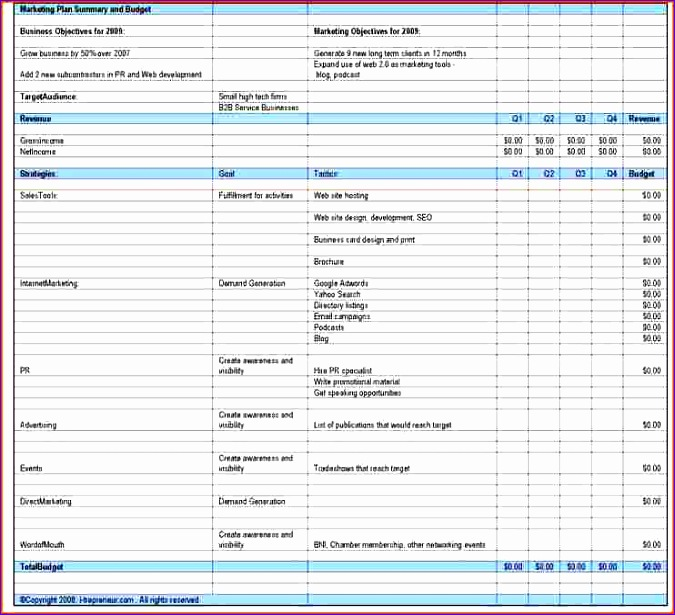 7 Marketing Budget Template Excel - ExcelTemplates - ExcelTemplates