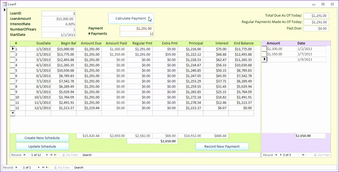 Microsoft Excel Amortization Template - Costumepartyrun