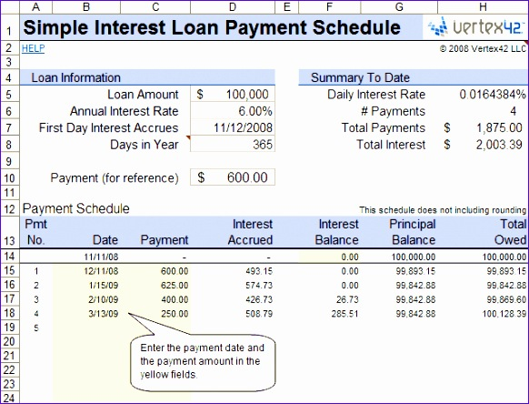 12 Payment Schedule Template Excel - ExcelTemplates - ExcelTemplates
