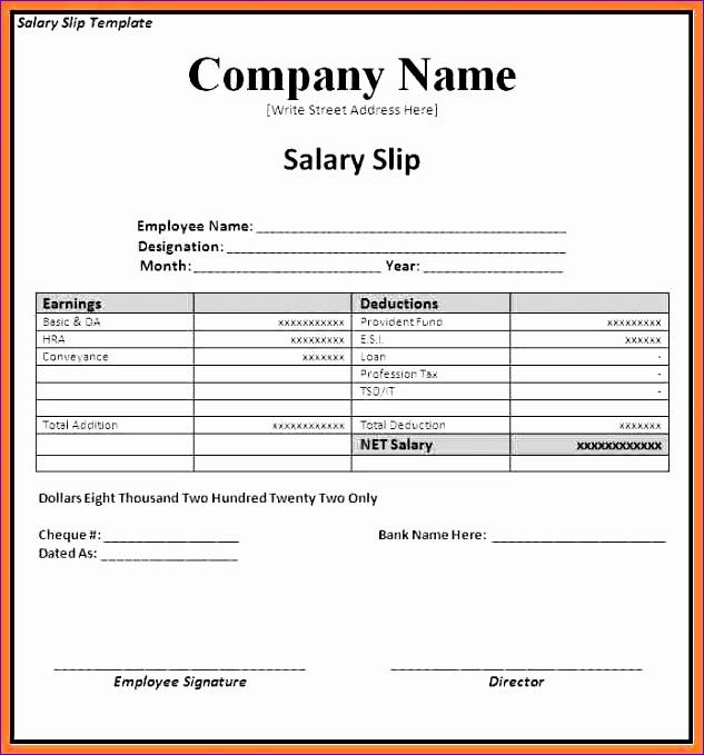 Payslip Excel Template cvfreepro - payslip excel template