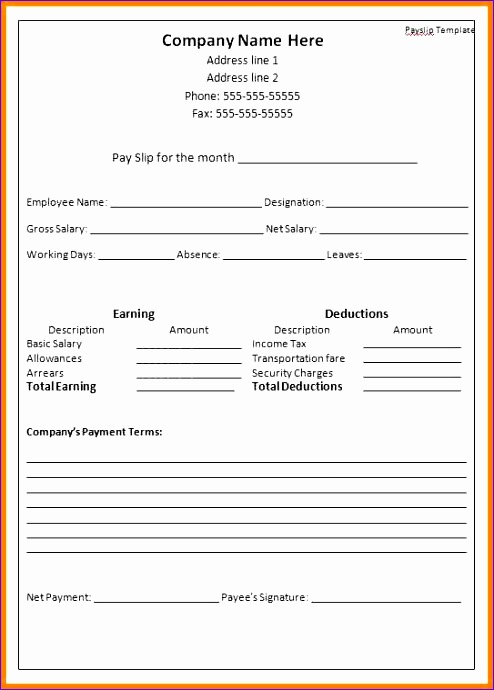 10 Payslip Template Excel - ExcelTemplates - ExcelTemplates - basic payslip template excel