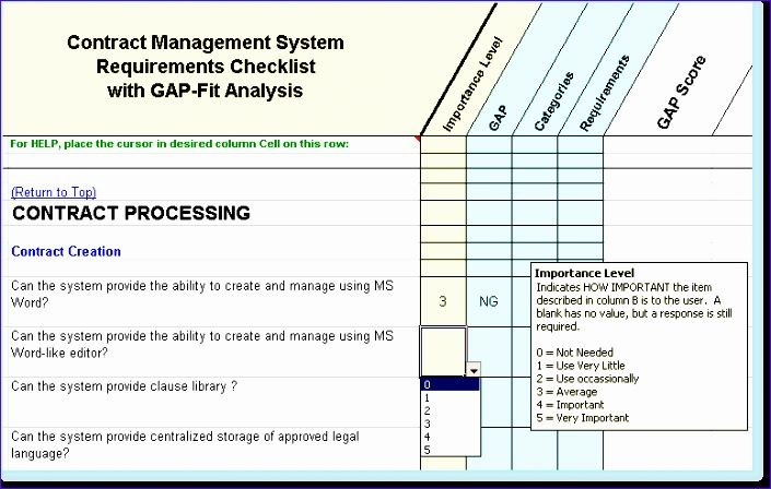 Performance Tracking Excel Template Crvdt Fresh Contract Management - software evaluation template