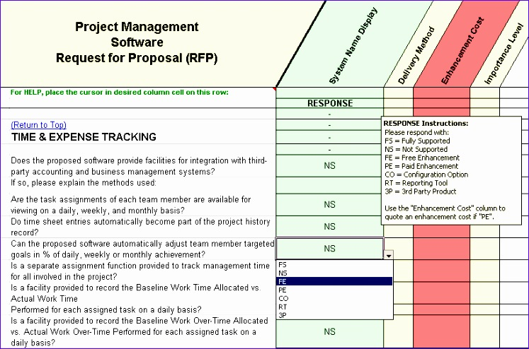 12 Project assessment Template Excel - ExcelTemplates - ExcelTemplates - software evaluation template