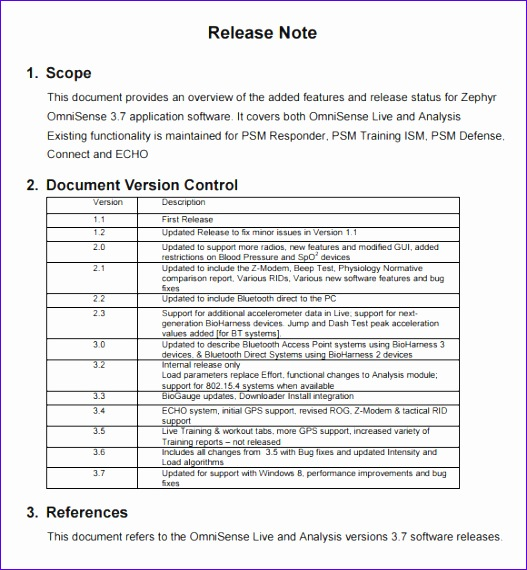 Project Proposal Template Excel Ovybe Inspirational Release Notes