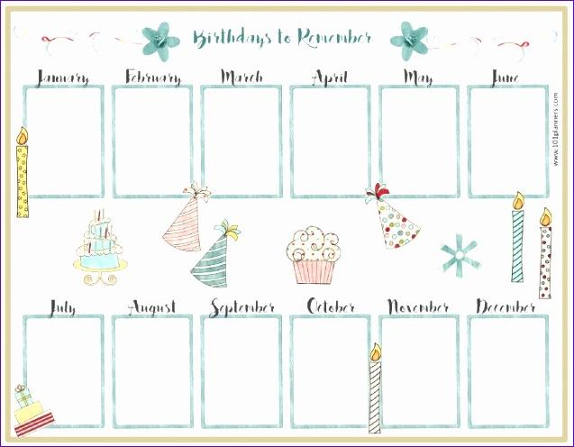Retirement Excel Template Wwvqg Lovely Birthday Calendar Template - birthday calendar template