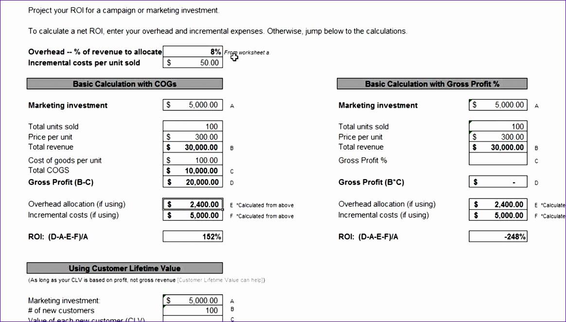 Marketing Calculator Template | kicksneakers.co