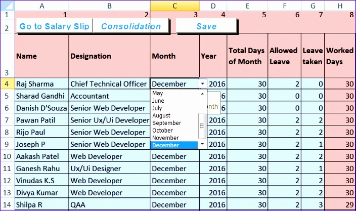 Salary Slip Template In Excel O8cuo Inspirational Download Salary - download salary slip