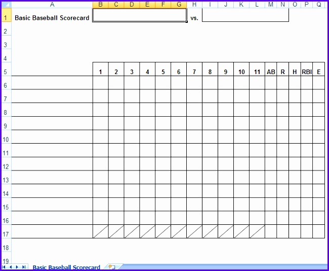 baseball lineup excel template - Funfpandroid