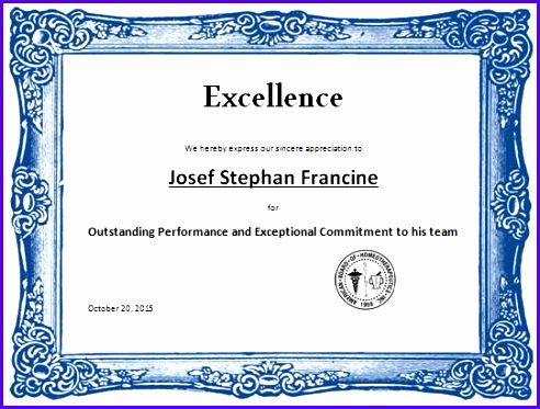 14 Certificate Of Excellence Template - ExcelTemplates - ExcelTemplates - certificate of excellence template word