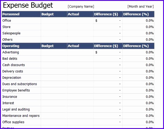 8 Expenses Template Excel - ExcelTemplates - ExcelTemplates