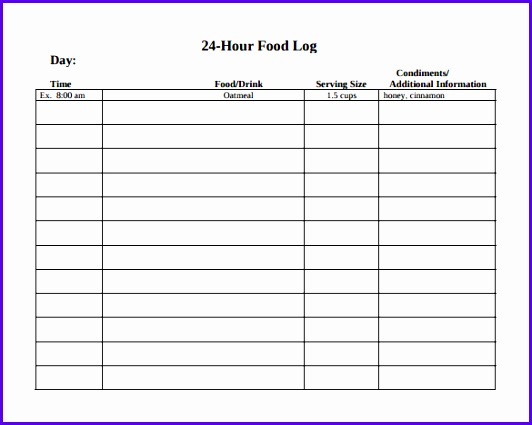 14 Food Journal Template Excel - ExcelTemplates - ExcelTemplates - food journal template free