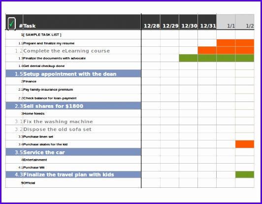 Sample Goal Tracking Colbro