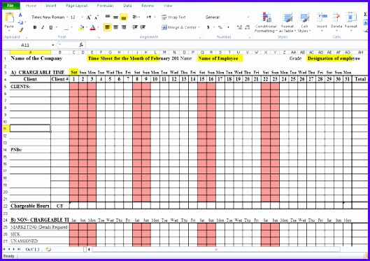 Example Monthly Timesheet Template Excel Tgcpg Inspirational Sample