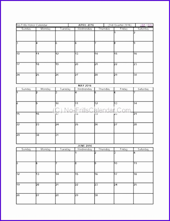 Quarterly Calendar Template quarter calendar template gallery