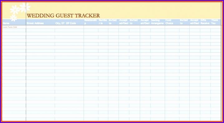 Sample Wedding Guest Template Excel Skfrl Unique 6 Wedding Guest - sample guest list