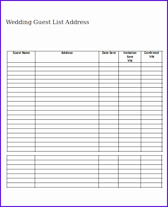 10 Wedding Guest Template Excel - ExcelTemplates - ExcelTemplates - sample wedding guest list
