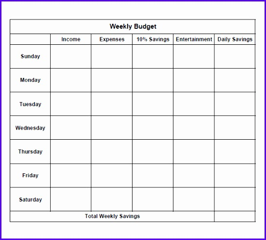 12 Weekly Budget Excel Template - ExcelTemplates - ExcelTemplates - sample weekly budget