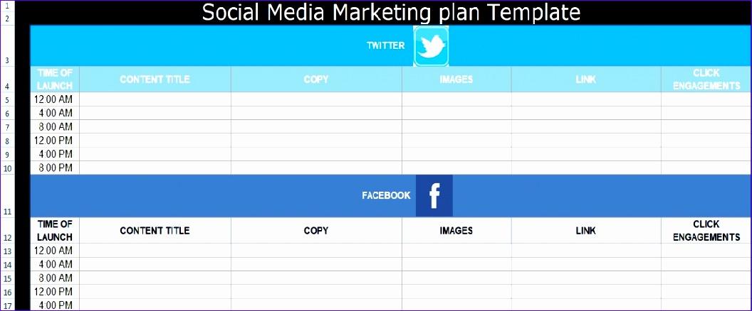 Social Media Plan Template Cvfreeo