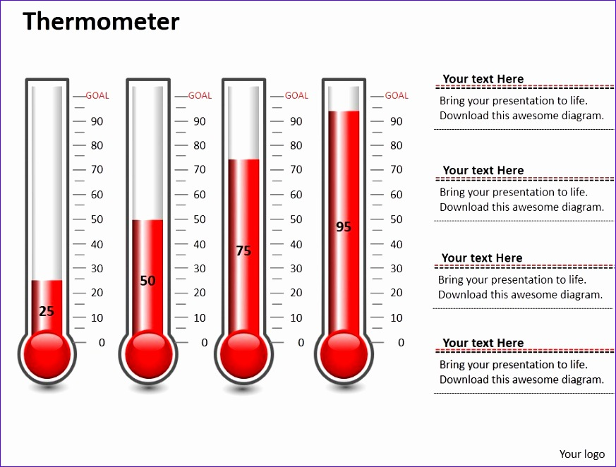 7 thermometer Template Excel - ExcelTemplates - ExcelTemplates - thermometer template