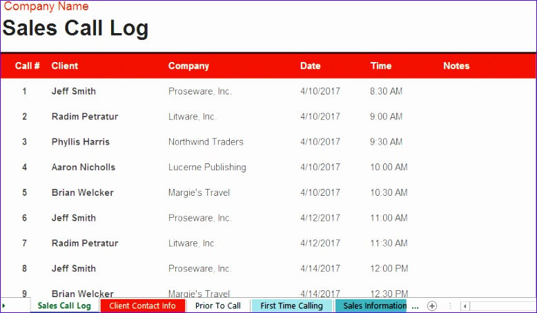 8 Time Log Template Excel - ExcelTemplates - ExcelTemplates