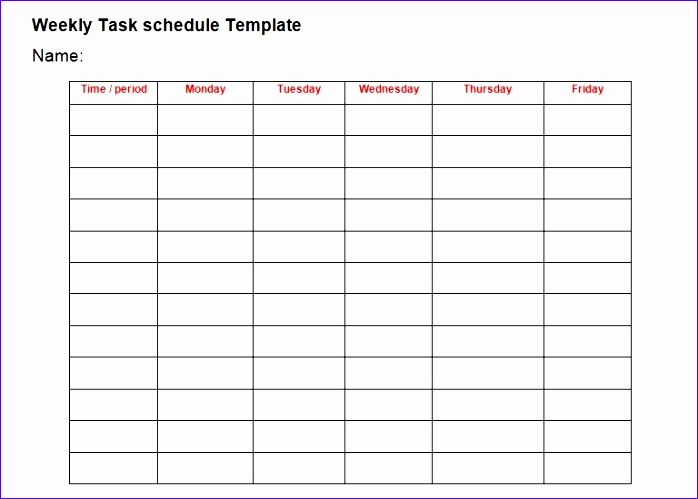 Training Schedule Template Excel Pweon Fresh Professional Daily Task