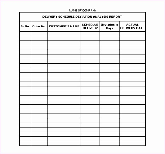 Weekly Itinerary Template Excel Sehnl Elegant Delivery Schedule