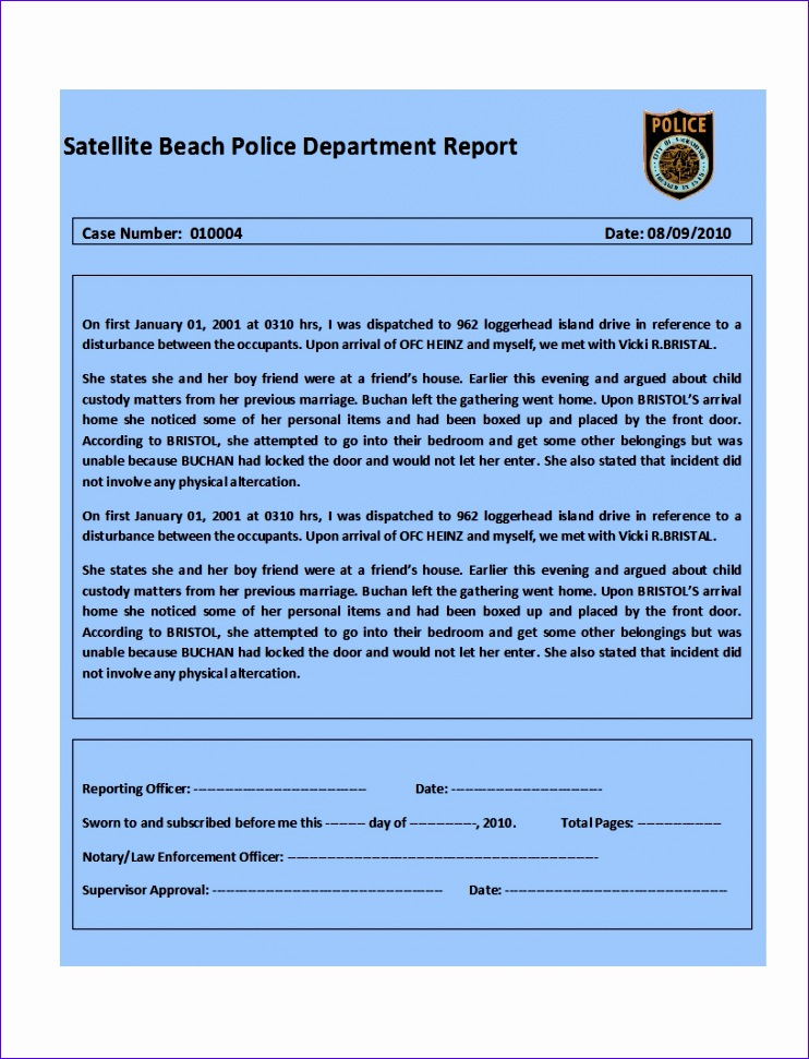 What are Excel Templates Rlglz Luxury top 4 Samples Police Report