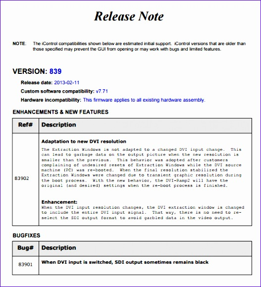 Dorable Release Notes Template Image - Resume Template - release note template