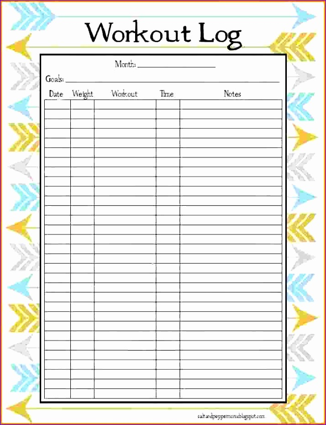 printable running log template - Yenimescale