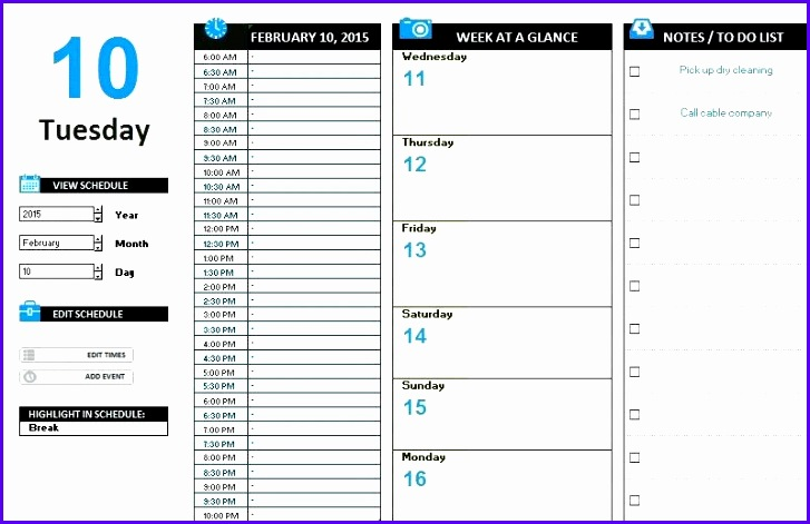 10 event Schedule Template Excel - ExcelTemplates - ExcelTemplates - microsoft timetable template