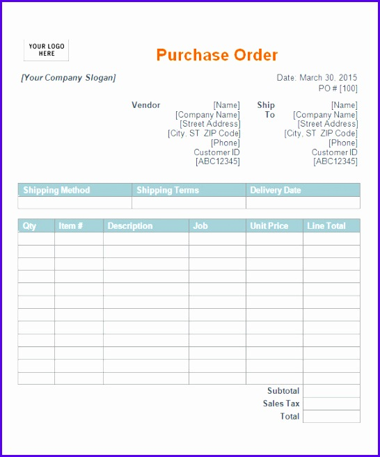 Examples Free Excel Purchase order Template Egtde Unique Po Samples - Examples Of Purchase Orders
