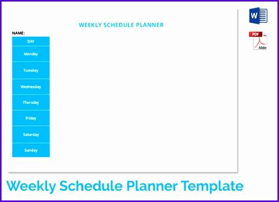 Examples Weekly Planner Template Excel F3rbd Fresh Weekly Schedule