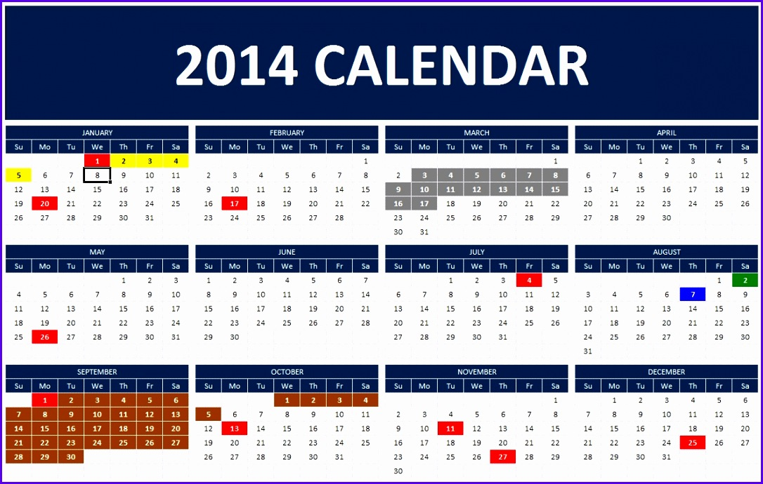 Annual Calendar Template cvfreepro - sample annual calendar