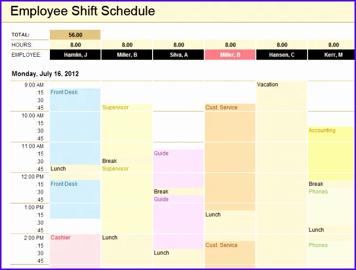 9 Timetable Excel Template - ExcelTemplates - ExcelTemplates - time table excel