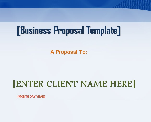 Professional Business Proposal Template Word - Microsoft Excel - microsoft business proposal template