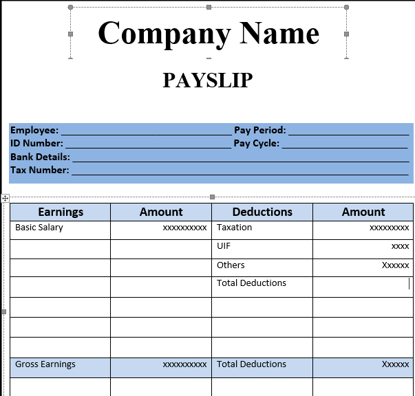 Indian Resume Format In Word File Free Download – Free Payslip Download