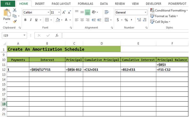 Loan Amortization Schedule Excel Financial Formulas