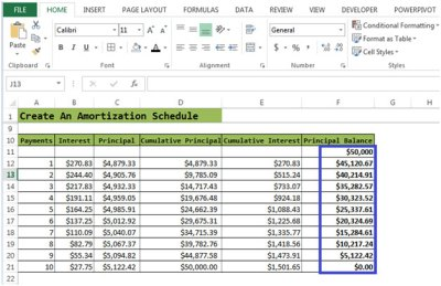 Loan Amortization Schedule | Microsoft Excel Tips from Excel Tip .com / Excel Tutorial / Free ...