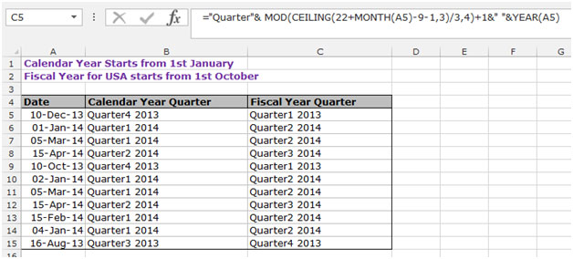 How to Calculate the Quarter in Microsoft Excel Excel Date  Time