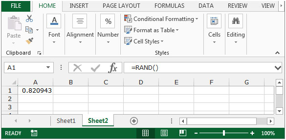Random number generator excel range Random Generator for Excel