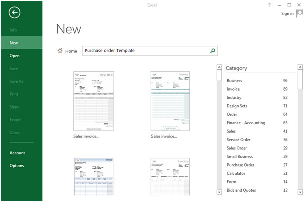 Purchase Order in Microsoft Excel - microsoft excel purchase order template
